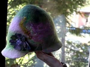 Валяную шляпку переделываем в кепку. Ярмарка Мастеров - ручная работа, handmade.
