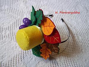 Шьем очаровательную шляпку на ободке с осенним декором. Ярмарка Мастеров - ручная работа, handmade.