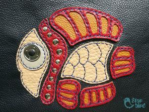 Создаем аппликацию рыбку из кожи. Ярмарка Мастеров - ручная работа, handmade.