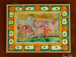 Лепим с детьми яркую пластилиновую рамку для акварельной картины. Ярмарка Мастеров - ручная работа, handmade.
