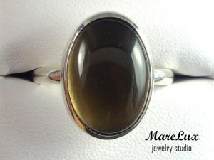Делаем серебряное кольцо с кабошоном дымчатого кварца. Ярмарка Мастеров - ручная работа, handmade.
