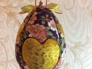 Создаем пасхальное яйцо: подвес с сердечками в технике «кимекоми». Ярмарка Мастеров - ручная работа, handmade.