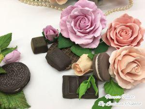 Лепка розы из зефирной глины с текстурой. Ярмарка Мастеров - ручная работа, handmade.