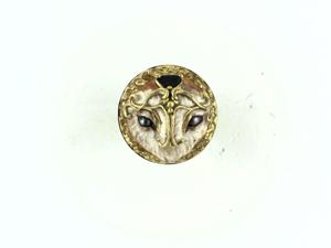 Кольцо с черным жемчугом и камнем гранат. Ярмарка Мастеров - ручная работа, handmade.