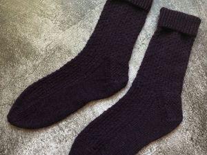 Вяжем носки с узором «Лесенка». Ярмарка Мастеров - ручная работа, handmade.