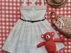 Пошив нарядного летнего платья для девочки, от начала до конца. Ярмарка Мастеров - ручная работа, handmade.