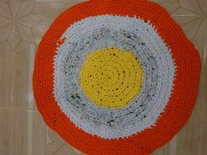Вязаный коврик. Ярмарка Мастеров - ручная работа, handmade.