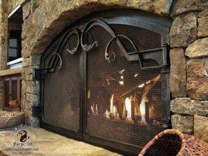 Дверки для камина и каминные экраны. Ярмарка Мастеров - ручная работа, handmade.
