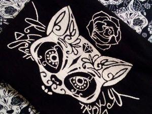 Как перенести рисунок на чёрную ткань. Ярмарка Мастеров - ручная работа, handmade.