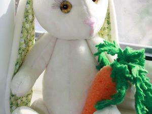 Шьем морковку из флиса для зайца за 7 шагов. Ярмарка Мастеров - ручная работа, handmade.