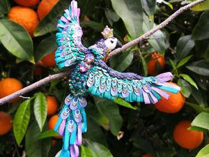 Видео броши  «Королевский попугай». Ярмарка Мастеров - ручная работа, handmade.
