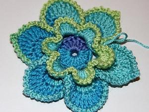 Вяжем крючком цветы. Ярмарка Мастеров - ручная работа, handmade.