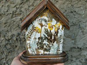 Как украсить интерьерный домик с настоящим гербарием. Ярмарка Мастеров - ручная работа, handmade.