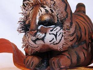 Создаем интерьерную куклу: тигренок на подсолнухе. Ярмарка Мастеров - ручная работа, handmade.