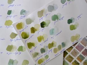 Зелёный в акварели. Эксперименты по смешиванию красок. Ярмарка Мастеров - ручная работа, handmade.