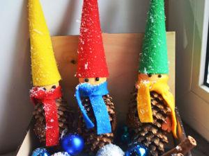 Лепим Новогодних гномиков. Ярмарка Мастеров - ручная работа, handmade.