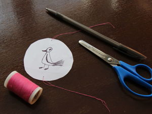 Делаем оптическую игрушку — птица в клетке. Ярмарка Мастеров - ручная работа, handmade.