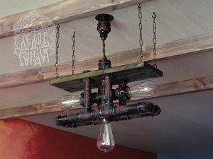 Мастер-класс по изготовлению люстры «Рropeller» в стиле лофт. Часть 2. Ярмарка Мастеров - ручная работа, handmade.