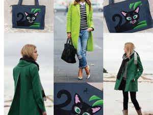 Африканский кот на сумке. Ярмарка Мастеров - ручная работа, handmade.