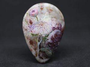 Хризантемы на яшме. Аукцион. Ярмарка Мастеров - ручная работа, handmade.