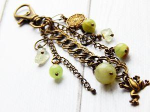 Брелоки для ключей с натуральными камнями. Ярмарка Мастеров - ручная работа, handmade.