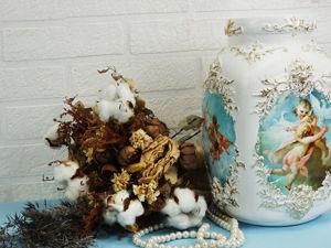 Мастерим роскошную вазу в стиле барокко из трехлитровой банки. Ярмарка Мастеров - ручная работа, handmade.