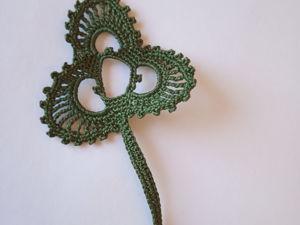 Вяжем мотив Клевер для ирландского кружева. Ярмарка Мастеров - ручная работа, handmade.