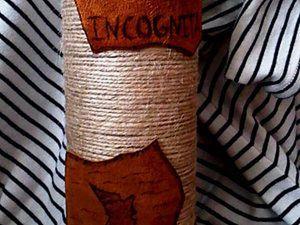 Изготовление вазочки, декорированной кожей. Ярмарка Мастеров - ручная работа, handmade.