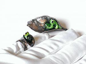 Создаем кольцо с регулируемым размером и крепим бусину lampwork. Ярмарка Мастеров - ручная работа, handmade.