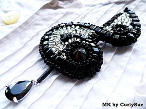 """Брошь """"Скрипичный ключ"""": вышивка бисером. Ярмарка Мастеров - ручная работа, handmade."""