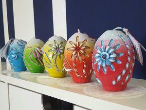 Пасхальные резные свечи. Ярмарка Мастеров - ручная работа, handmade.