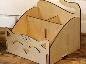 Сборка настольного органайзера  «Кошки». Ярмарка Мастеров - ручная работа, handmade.