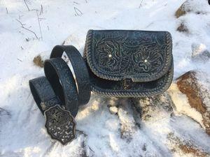 Акция! Комплект кожаных аксессуаров по сниженной цене. Ярмарка Мастеров - ручная работа, handmade.