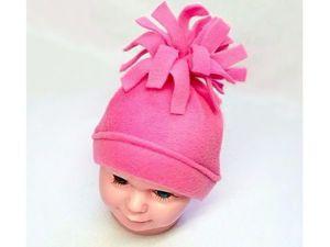 Детская шапочка из флиса быстро и легко. Ярмарка Мастеров - ручная работа, handmade.