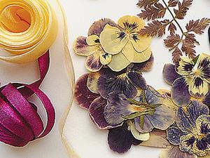 Открытка из засушенных цветов в стиле «Ретро». Мастер-класс. Ярмарка Мастеров - ручная работа, handmade.