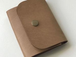 Изготавливаем мини-кошелек из кожи. Ярмарка Мастеров - ручная работа, handmade.