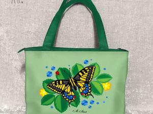 Солнечные лучики в яркой сумке: «Зеленое лето». Ярмарка Мастеров - ручная работа, handmade.