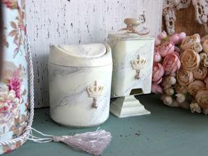 Контейнеры для туалетного столика. Мраморное покрытие. Ярмарка Мастеров - ручная работа, handmade.