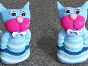 Making a Cute Sock Cat: Video Tutorial. Livemaster - handmade