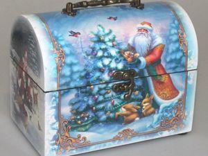Набор мастеров на аукцион  «Новогодний сундучок». Ярмарка Мастеров - ручная работа, handmade.