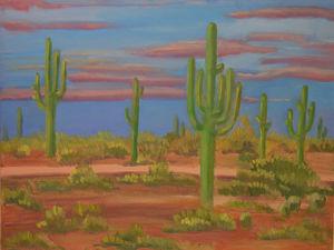 Интерьерная картина маслом:  «Долина кактусов». Ярмарка Мастеров - ручная работа, handmade.