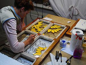 Роспись по стеклу в стиле витража. Ярмарка Мастеров - ручная работа, handmade.
