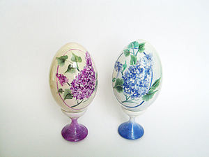 """Роспись яйца. Рисунок """" Сирень"""".. Ярмарка Мастеров - ручная работа, handmade."""