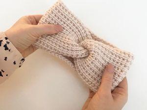Простой и стильный узор для повязки. Ярмарка Мастеров - ручная работа, handmade.