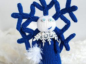 Девочка-Снежинка спицами: мастер-класс. Ярмарка Мастеров - ручная работа, handmade.
