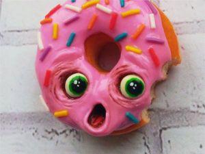 Видеоурок: лепим испуганный Пончик из полимерной глины. Ярмарка Мастеров - ручная работа, handmade.