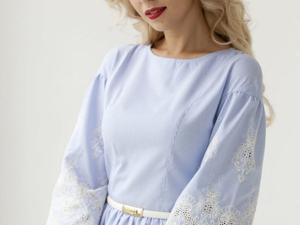 Аукцион на Летнее нежно-голубое платье! Старт 2000 руб.!. Ярмарка Мастеров - ручная работа, handmade.