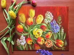 50% Предпраздничные Скидки на картины с цветами!. Ярмарка Мастеров - ручная работа, handmade.