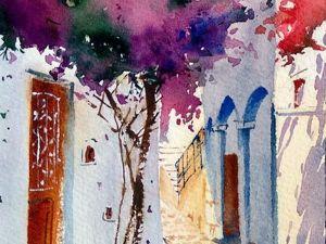 Видео обзор картины с уютной улицей города Европы. Ярмарка Мастеров - ручная работа, handmade.