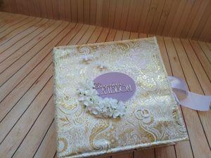 Свадебный альбом в золотой обложке. Ярмарка Мастеров - ручная работа, handmade.